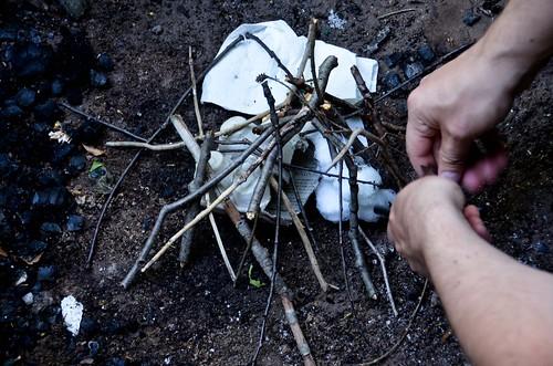 Firestarters of Choice: Vaseline-doused Cotton Balls