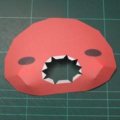 วิธีทำโมเดลกระดาษหมีรีแลกคุมะถือป้าย (Rilakkuma Papercraft Model 1) 004