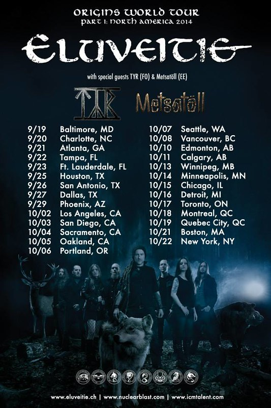 Eluveitie at the Baltimore SoundStage