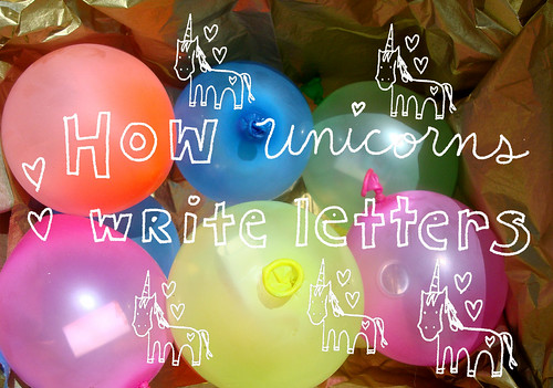 Writing letters like unicorns