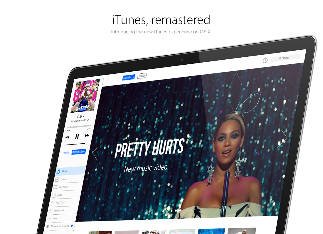 iTunes Concept Redesign by Brye Kobayashi