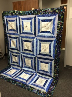 Doctor Who Quilt made by Claudia D (1)