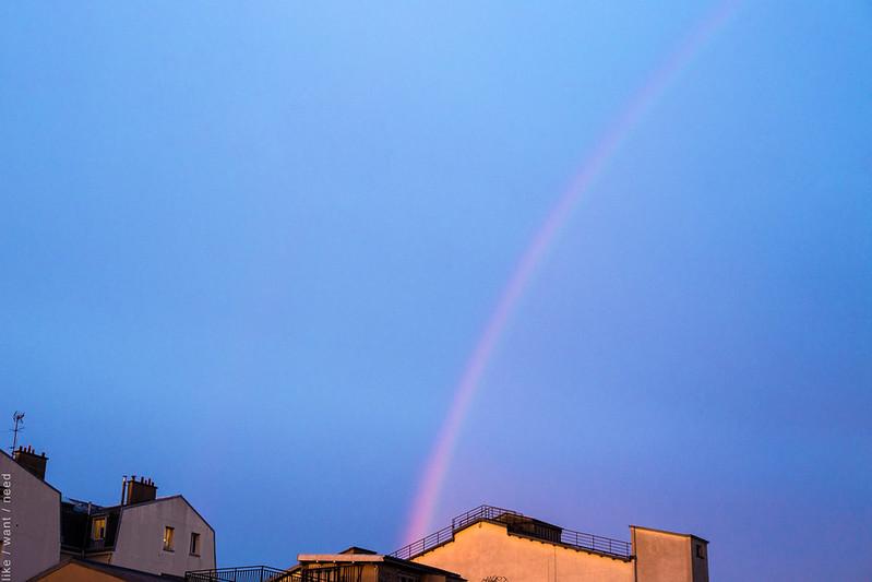 Rainbow over Montmartre
