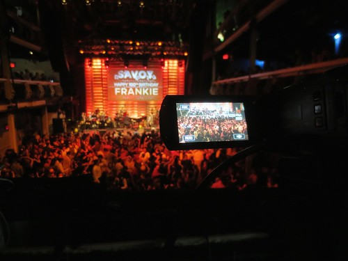 Frankie100 ballroom through camera