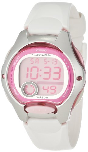 7629b5a9a ... Casio Women's LW200-7AV White Resin Strap and Pink Dial Digital Watch  Review | by