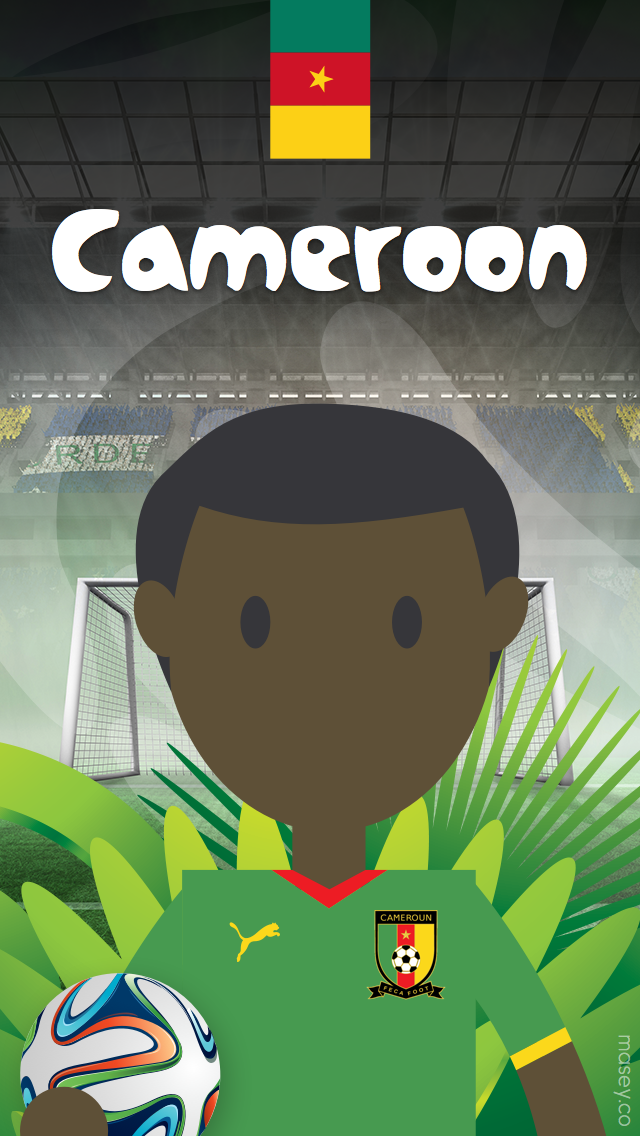 2014 Football World Cup Cameroon iPhone Wallpaper