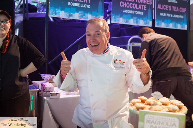 Chef Jacques Torres up to his signature crazy antics