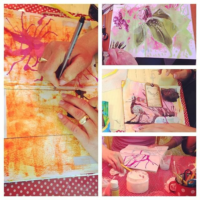 Art journaling workshop