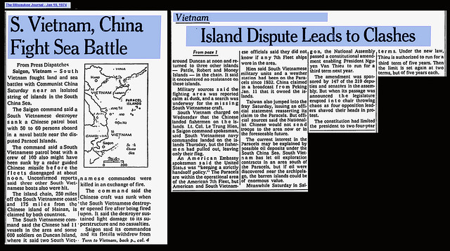S Vietnam, China Fight Sea Battle - The Milwaukee Journal - Jan 19, 1974