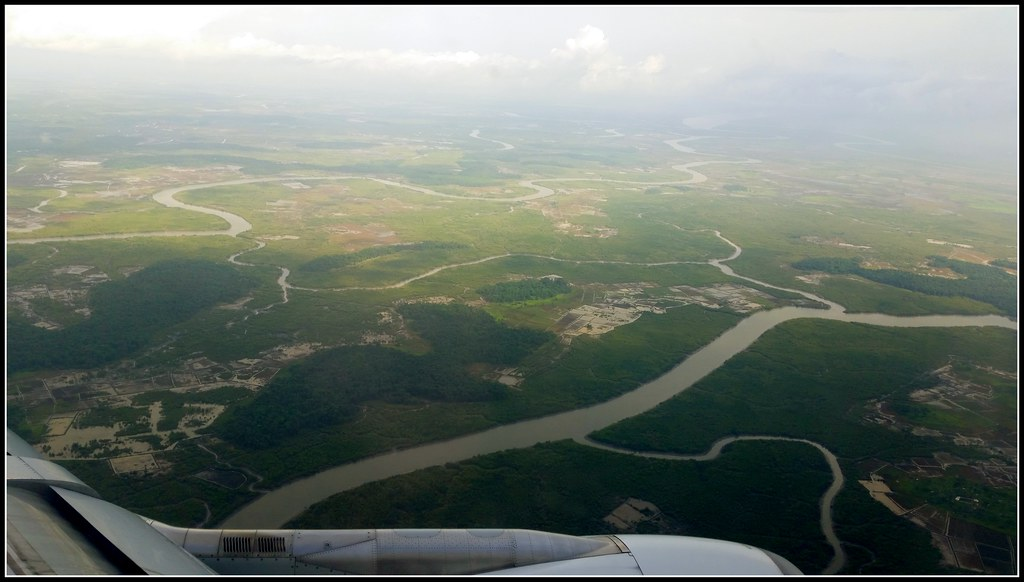 Guinea near Canakry from the air
