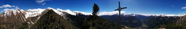 Panoramablick Gipfel Wolfskofel 2.050 m