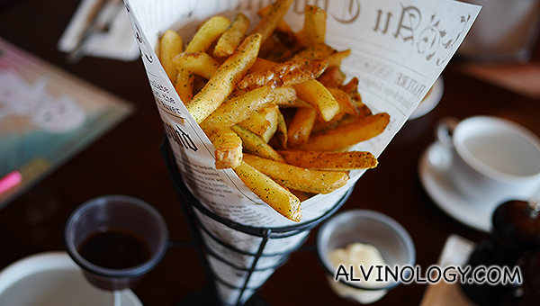 The best truffle fries I have tasted ($18)