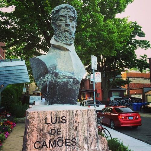 Luis De Camoes: The Portuguese Saint of Little Italy #toronto #littleitaly #art #sculpture