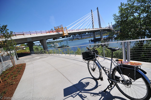 New Eastbank path under Tilikum Bridge -3