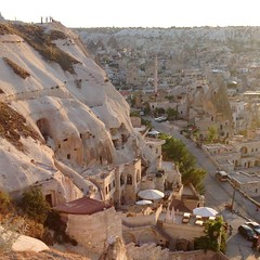 View of #goreme from the #Sunset Point. #Hotels inside #caves. Fairy Chimneys of #cappadocia
