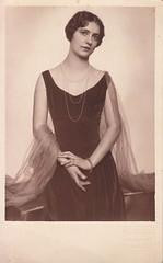 Portrait of an elegant lady by Aladár Székely (c.1920s)