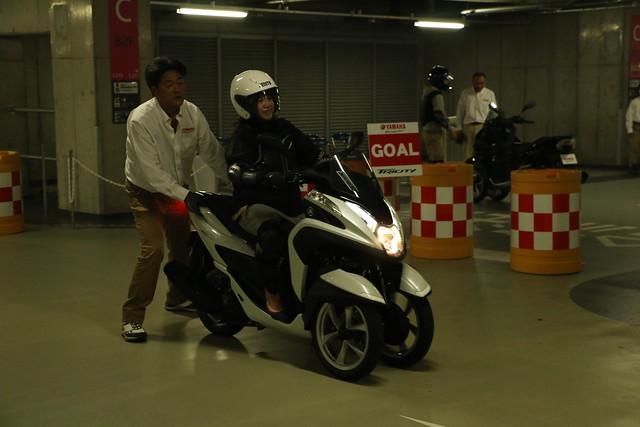 ヤマハ発動機の新しいバイク[LMW TRICITY トリシティ125]発表・試乗会