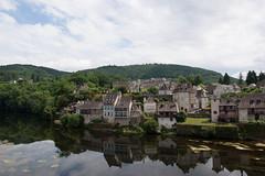 Vue sur une berge de la Dordogne
