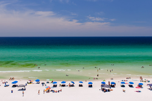 ocean sea sky people beach gulfofmexico water clouds sand florida explore panamacitybeach panamacity emeraldcoast explored nikond90 afsnikkor2470mmf28ged anthonyleverittphotography