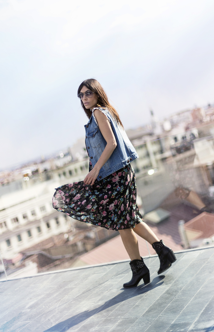 street style barbara crespo roof views innside madrid suecia fashion blogger outfit front row shop blog de moda dress