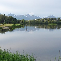 The view from my morning run in Anchorage