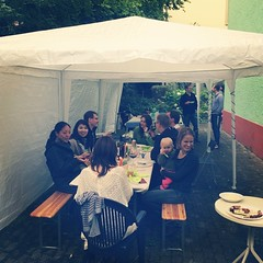 Lots of good food, wine and fun people with children who do not care about the rain ;) #outdoor