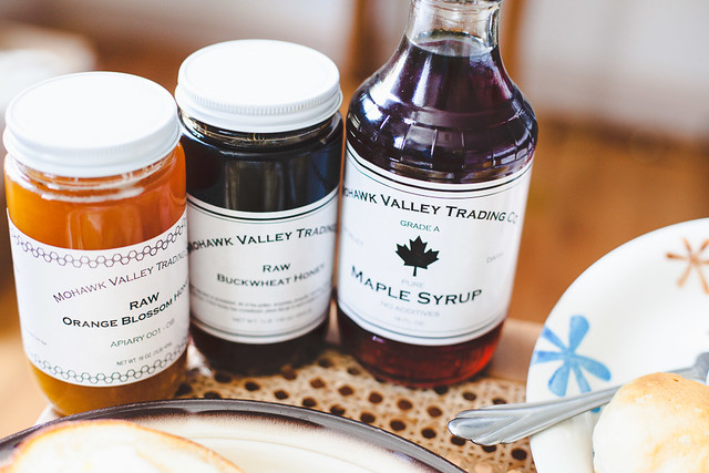 Mohawk Valley Raw honey and maple syrup