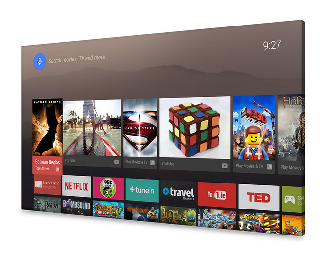 Interfaz de Android TV