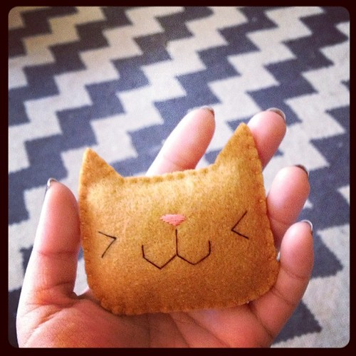 Catnip-y. #felt #cat #kitteh #toy