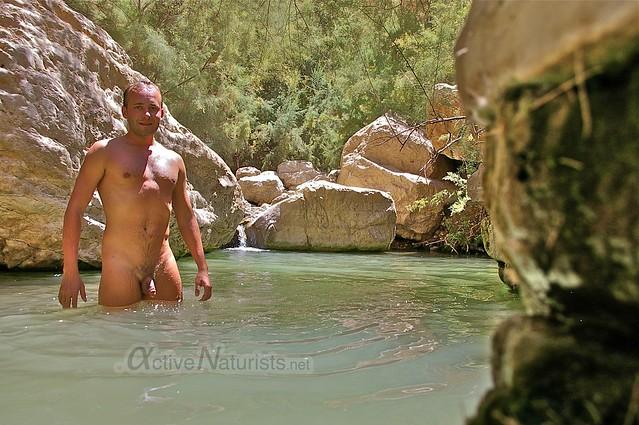 naturist 0003 Nahal Arugot, Dead Sea, Israel