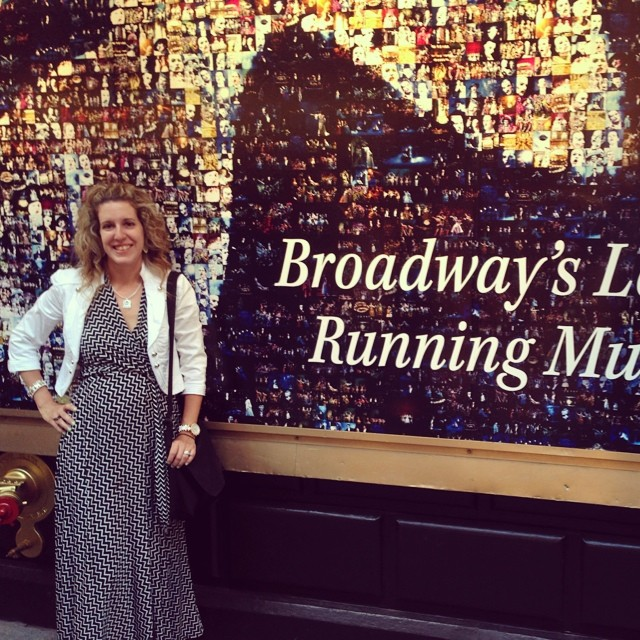First broadway show! Lots of firsts  on this trip!