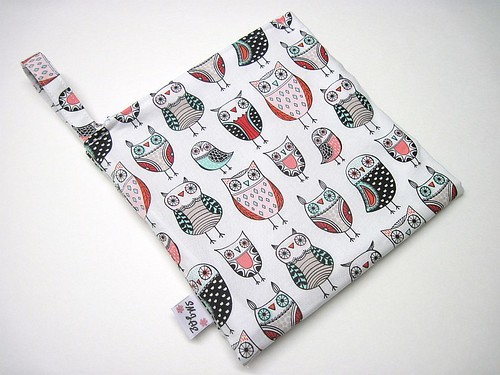 New Size Owls on White Wet/Dry Bag