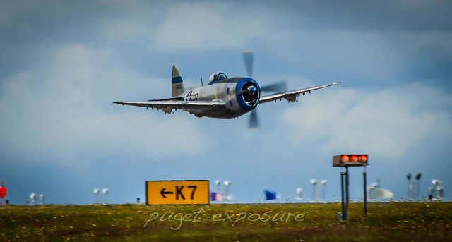 HFF P-47D Thunderbolt low pass