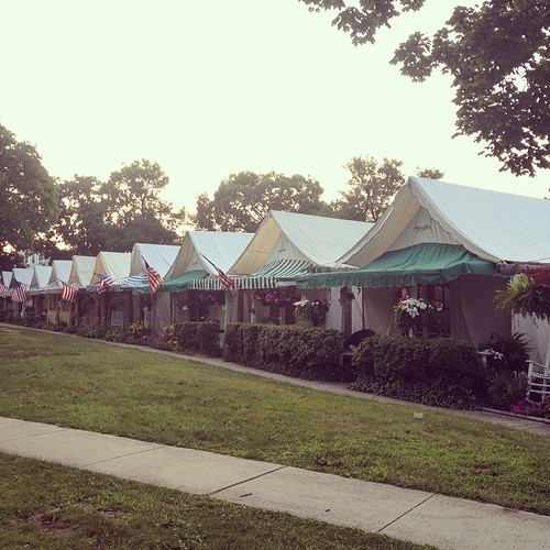 Tents at Ocean Grove NJ