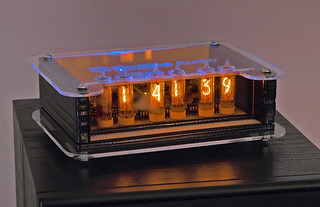 nixie clock with yet another case revision
