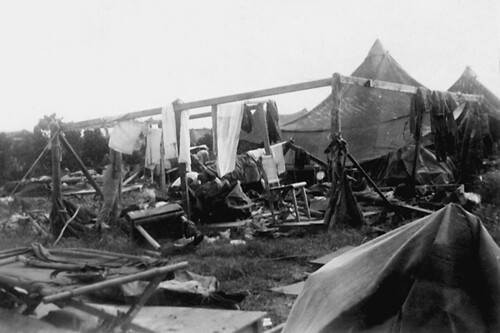 22nd Bomb Group Area After Typhoon