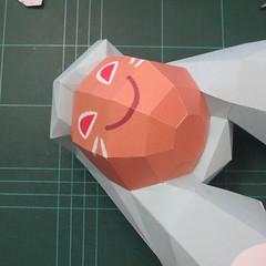 วิธีทำโมเดลกระดาษตุ้กตาคุกกี้รัน คุกกี้รสจิ้งจอกเก้าหาง (Cookie Run Nine Tails Cookie Papercraft Model) 008
