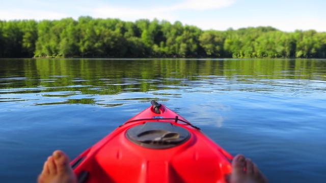 Kayaking at Fountainhead Regional Park