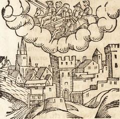 """Image from page 567 of """"Prodigiorvm ac ostentorvm chronicon : quae praeter naturae ordinem, motum, et operationem, et in svperioribus & his inferioribus mundi regionibus, ab exordio mundi usque ad haec nostra tempora, acciderunt ..."""" (1557)"""