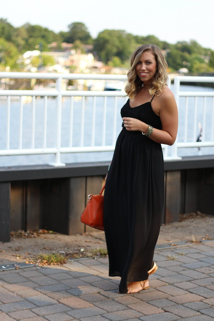 Black Crochet Maxi Dress   Turquoise Cuff #Giveaway   Outfit   #LivingAfterMidnite