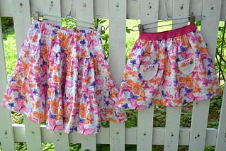 2 Butterflies skirts in size 7 & 4