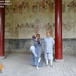 Shaolin Kung fu India's Master Kanishka Sharma with his Master Shi Yan Zhuang