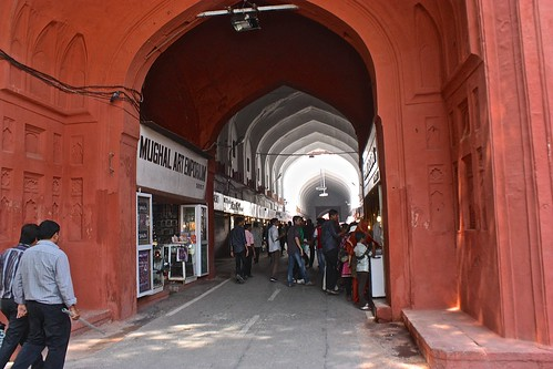 Chhatta Chowk (Bazaar) in Delhi's Red Fort