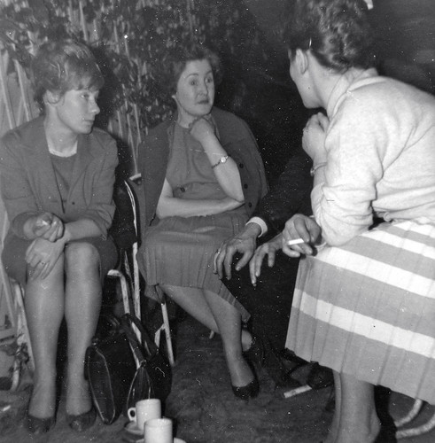 Ladies enjoying a smoke whilst catching up on the latest gossip
