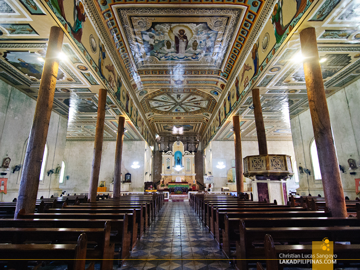 Sta. Monica Church Interior in Alburquerque, Bohol