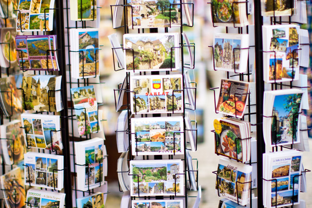 postcards in Sarlat