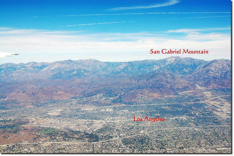 Looking down San Gabriel Mountains from the air 1
