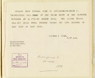 Armistice Telegram