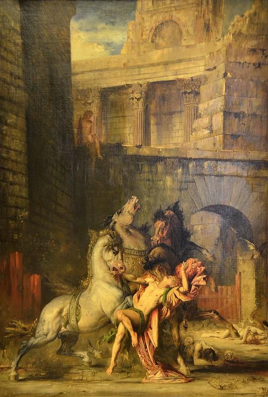 """Rouen (Seine-Maritime) - Musée des Beaux-Arts - """"Diomède dévoré par ses chevaux, 1865"""" (Gustave Moreau, 1826-1898)"""
