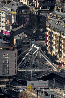 Andorra from top: Andorra la Vella, the center, Andorra